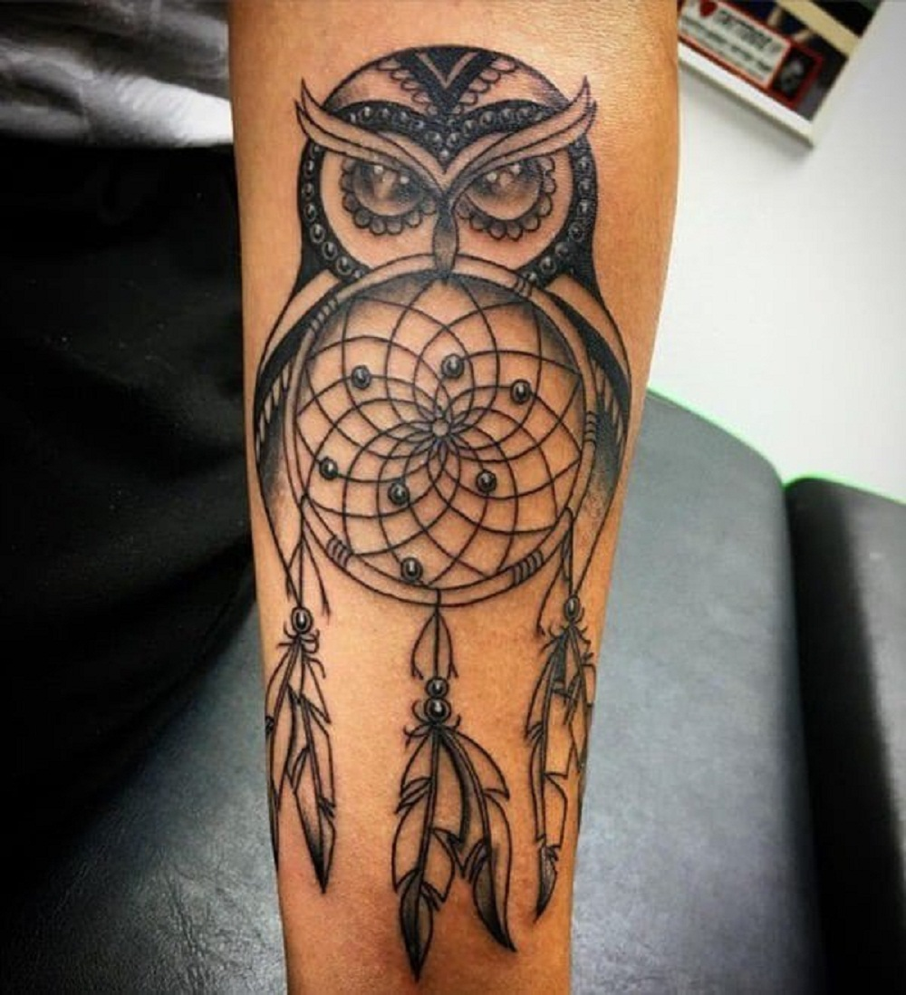 Татуировки с изображением совы фото 8