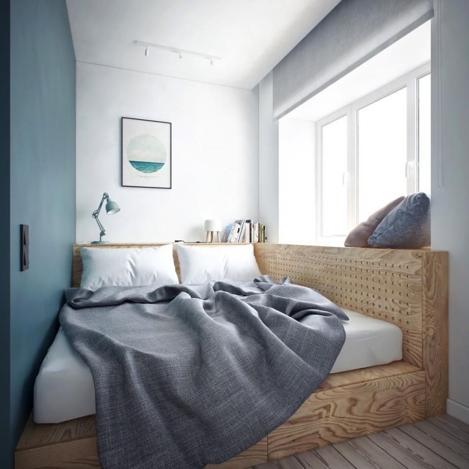 Дизайн интерьера небольшой спальни фото 10