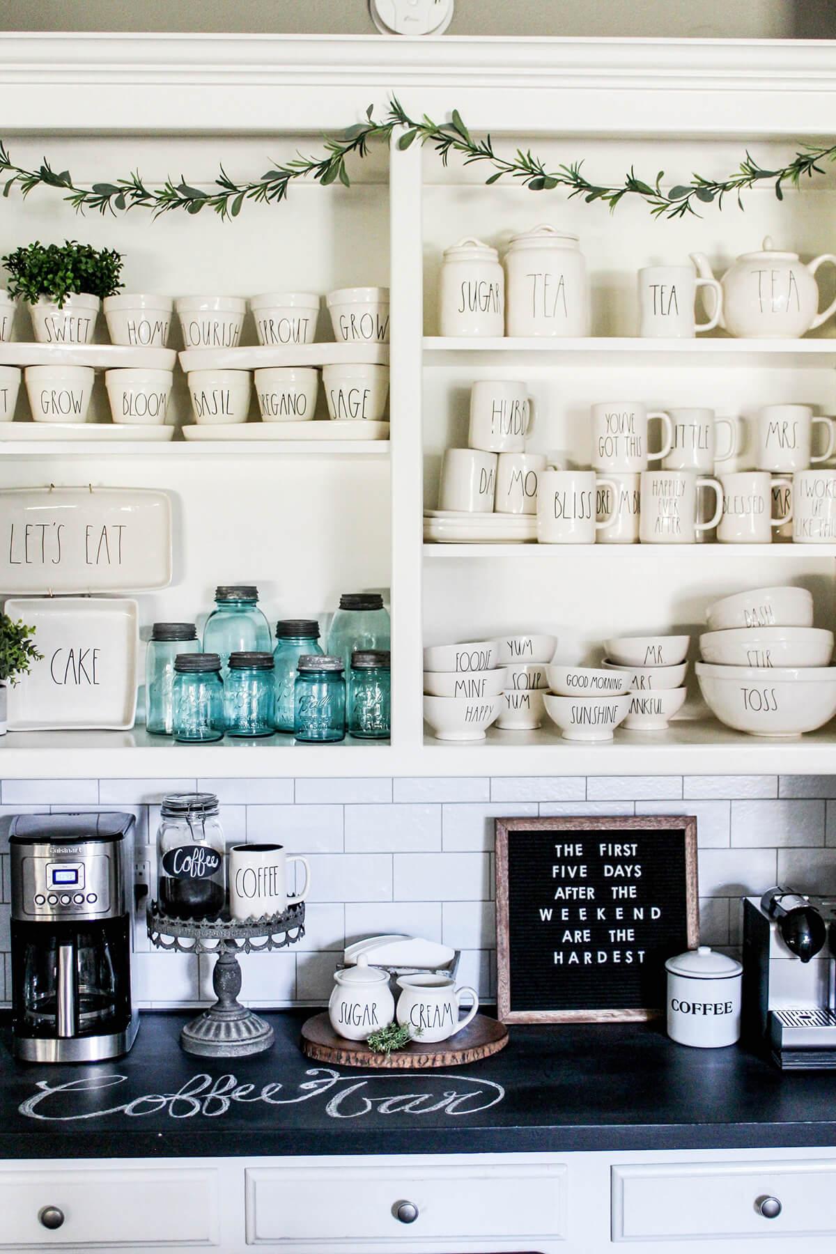 Кофе-бар: идеи создания кофейной станции дома фото 1