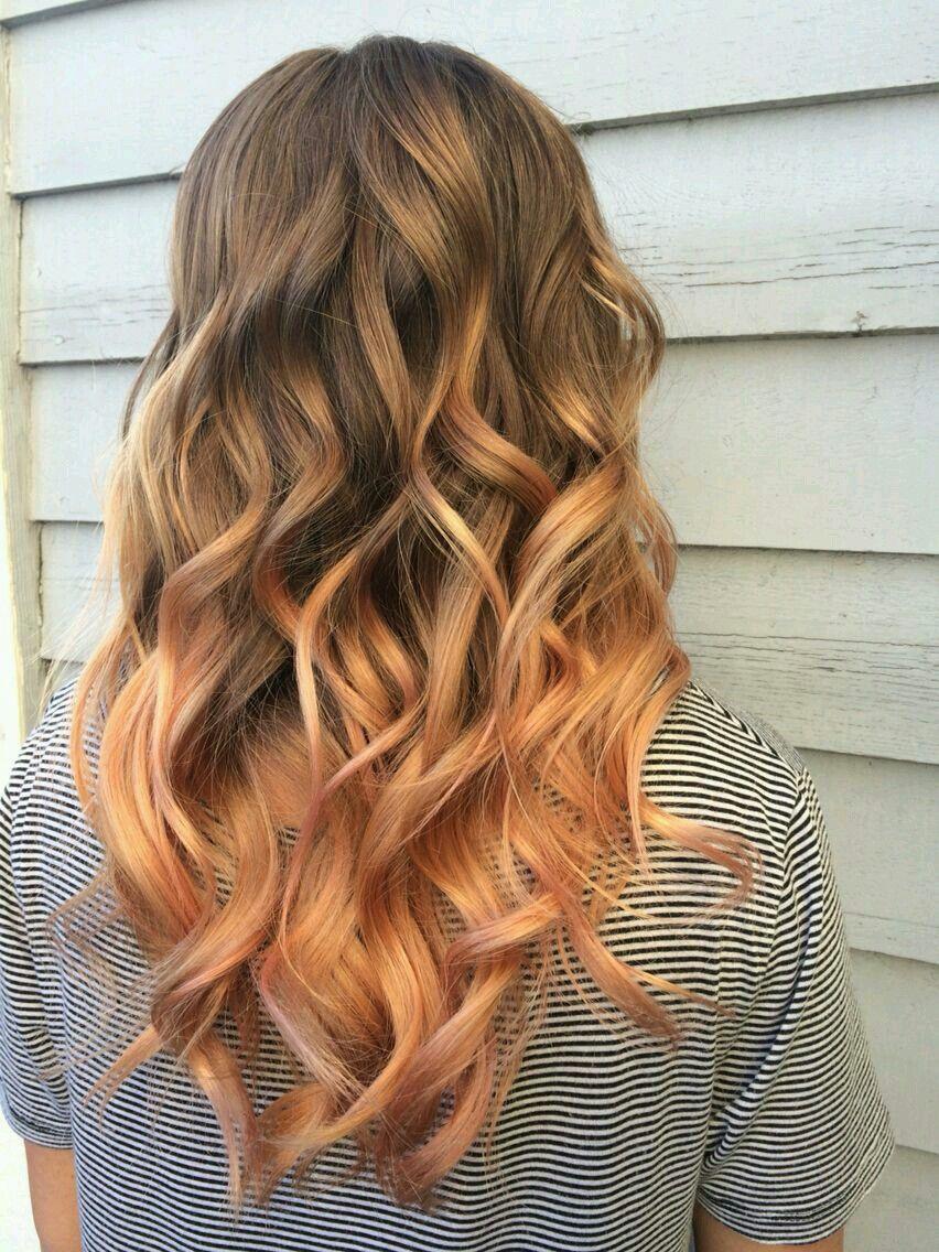 Персиковый оттенок волос фото 2