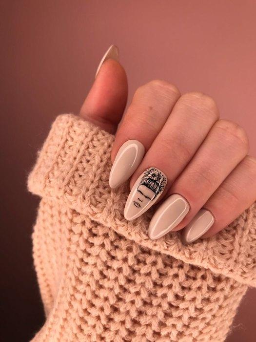Девушка на ногтях фото 178