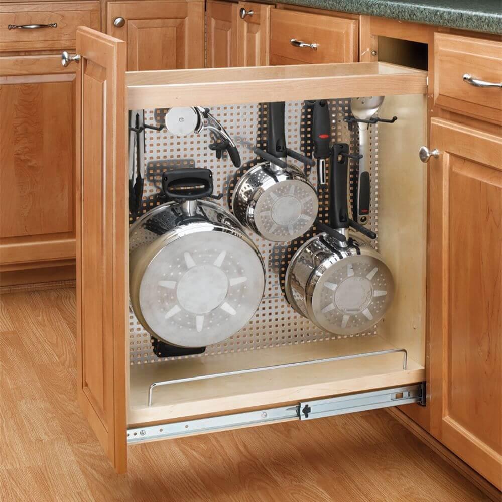 шкафы для хранения кухонной утвари фото 1
