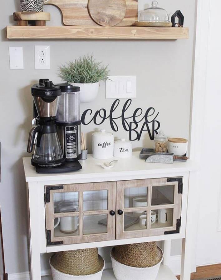 Кофе-бар: идеи создания кофейной станции дома фото 14