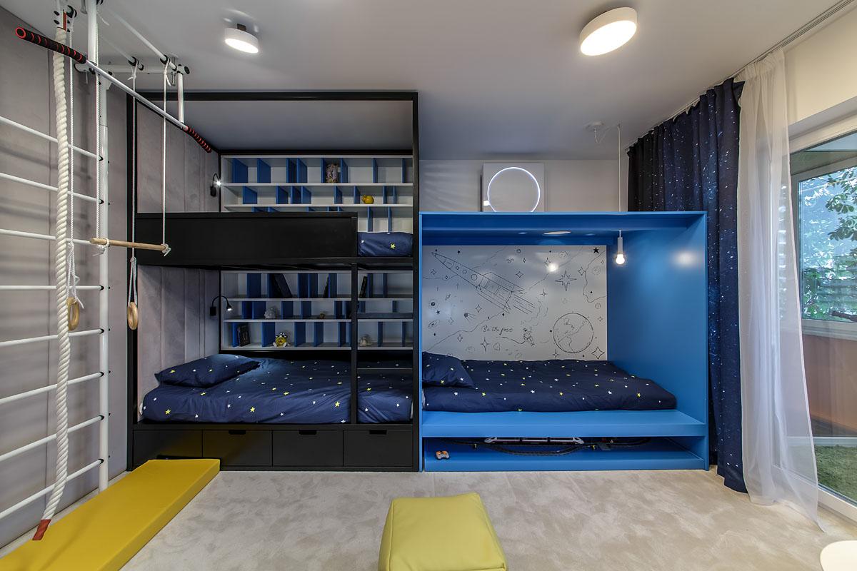 Комнаты для 3-х и более детей фото 18