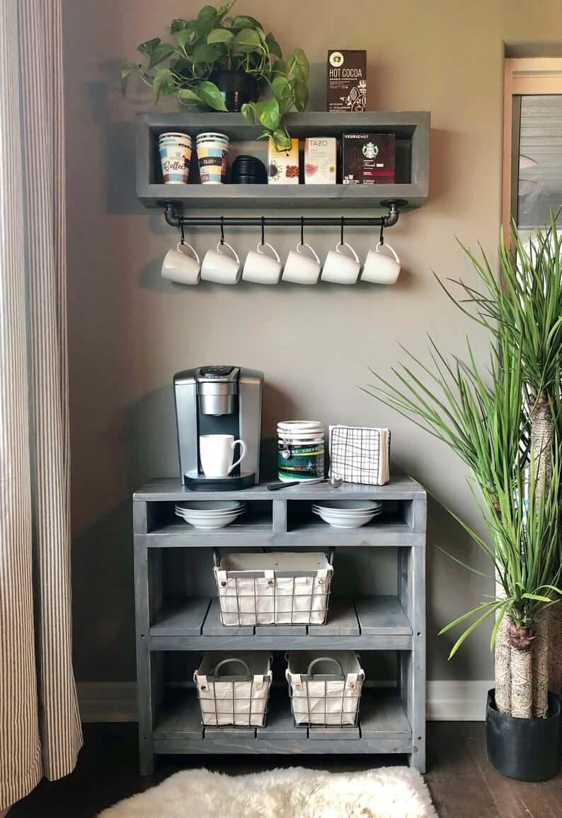 Кофе-бар: идеи создания кофейной станции дома фото 9