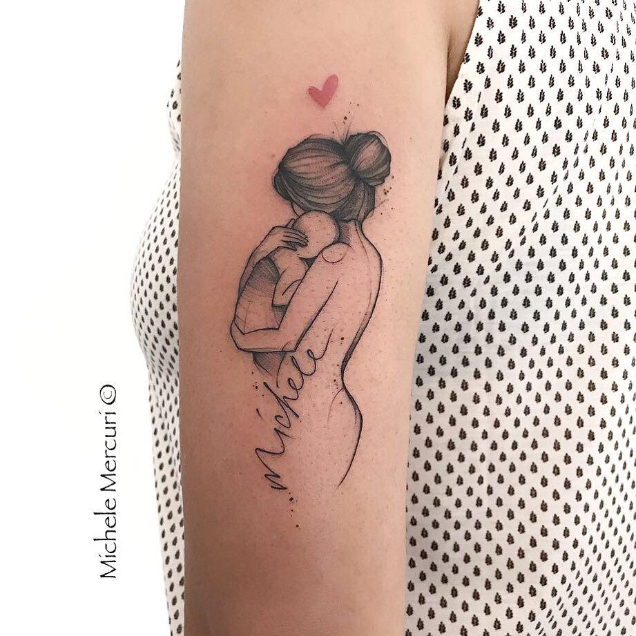 Татуировки в виде матери и ребёнка фото 28
