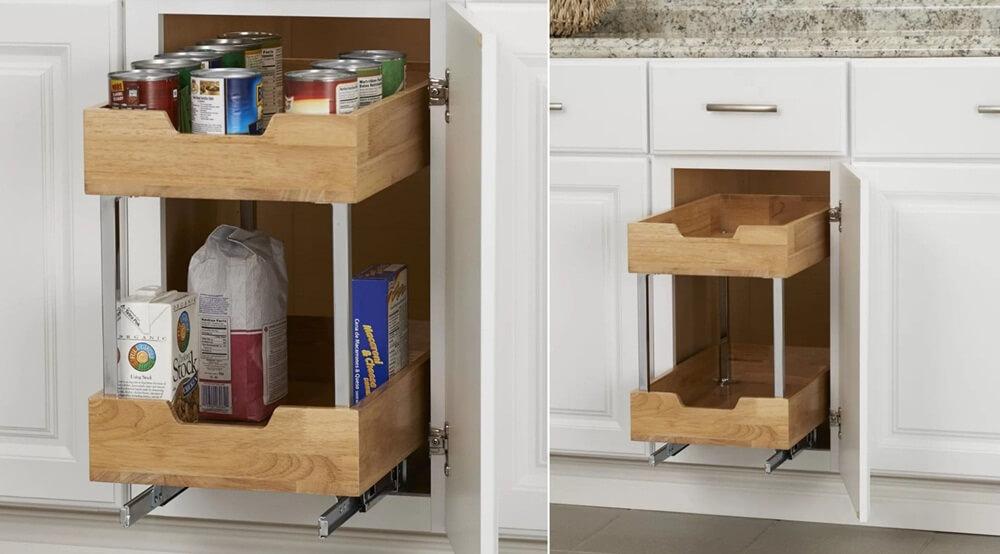 шкафы для хранения кухонной утвари фото 2
