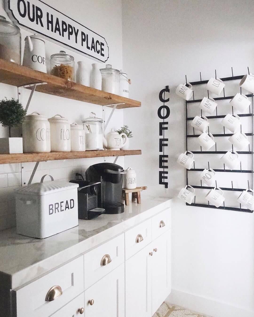 Кофе-бар: идеи создания кофейной станции дома фото 3=7