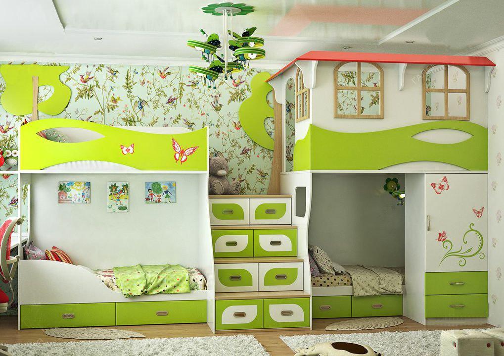Комнаты для 3-х и более детей фото 6