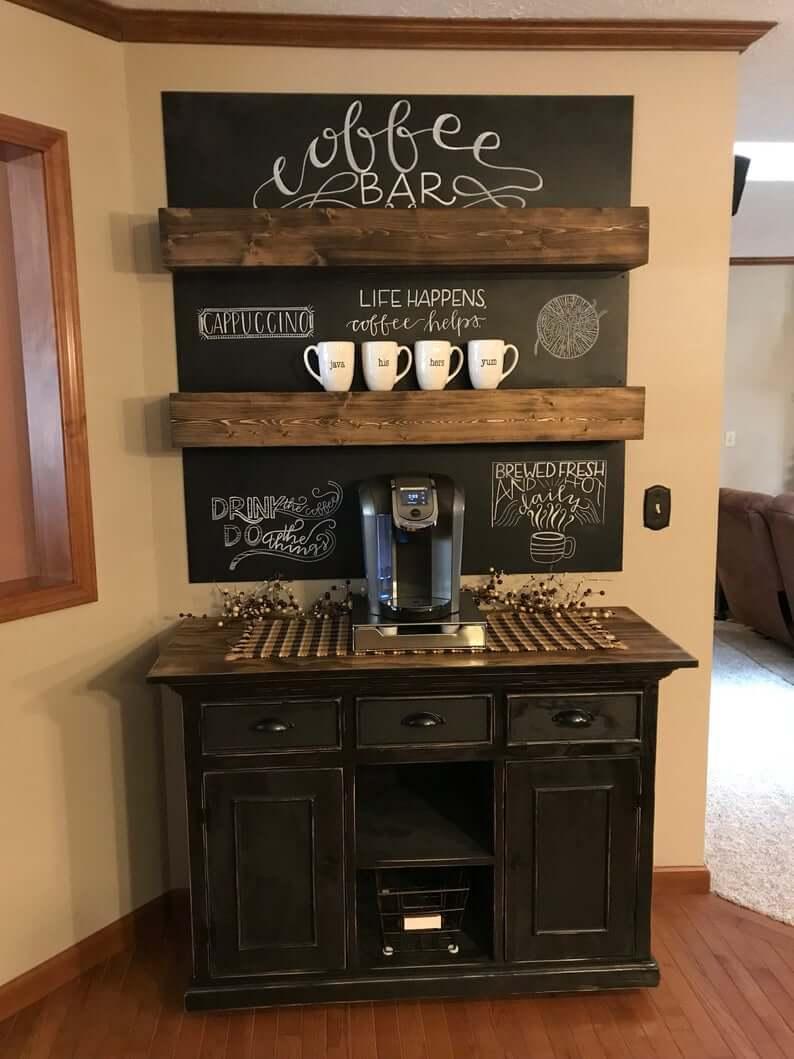 Кофе-бар: идеи создания кофейной станции дома фото 13