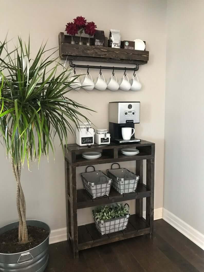 Кофе-бар: идеи создания кофейной станции дома фото 12