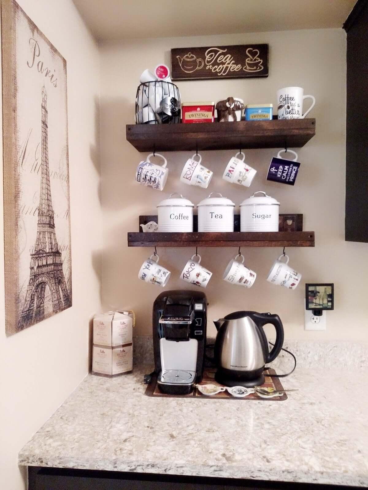 Кофе-бар: идеи создания кофейной станции дома фото 8