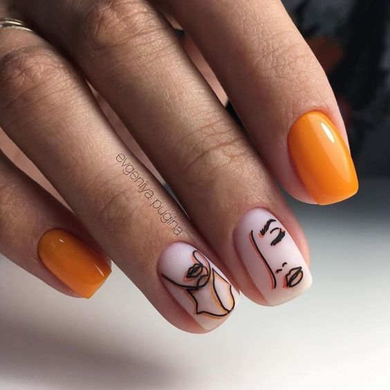Девушка на ногтях фото 175