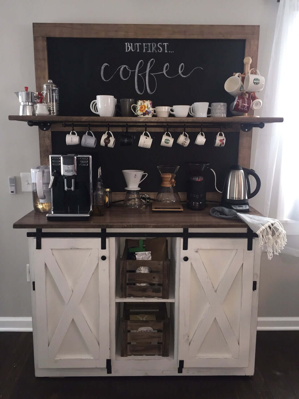 Кофе-бар: идеи создания кофейной станции дома фото 11