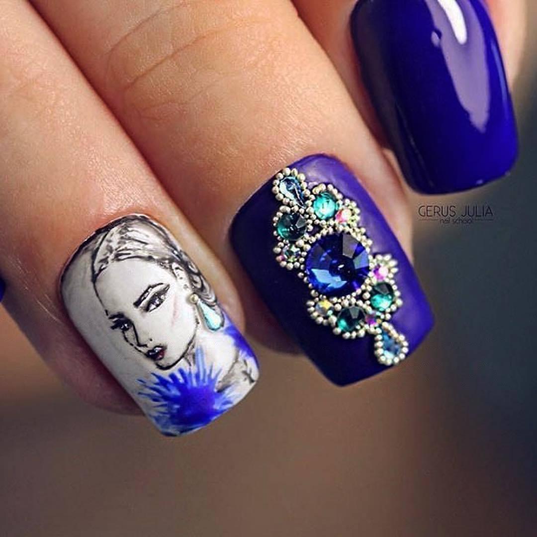 Девушка на ногтях фото 179