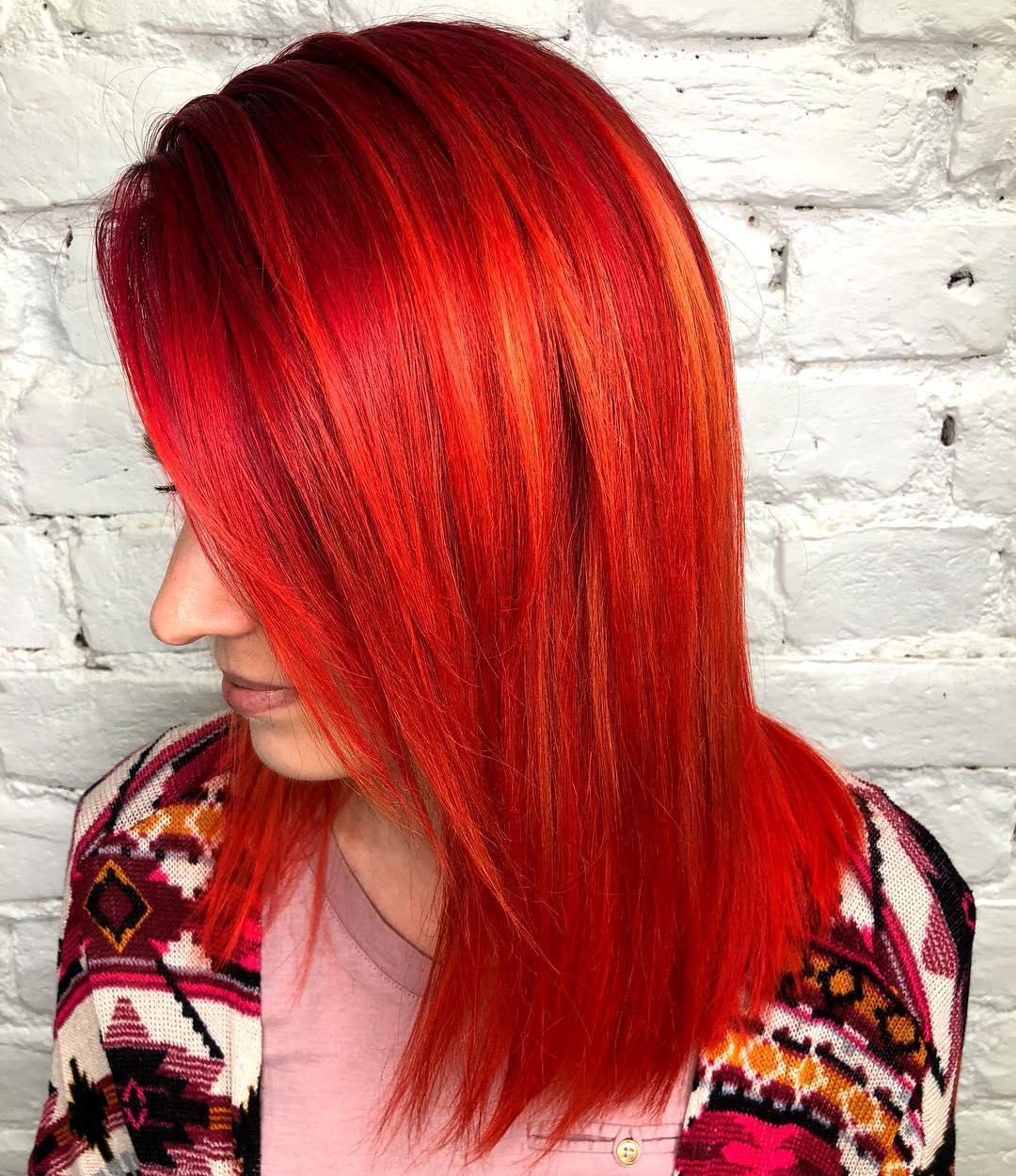 Красные волосы на женщинах 40-50 лет фото 12