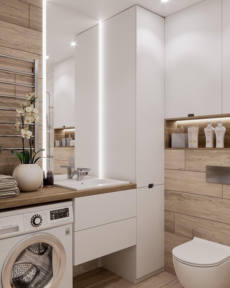 интерьер ванной комнаты фото 15