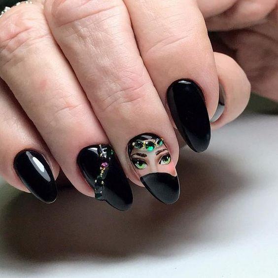 Девушка на ногтях фото 169