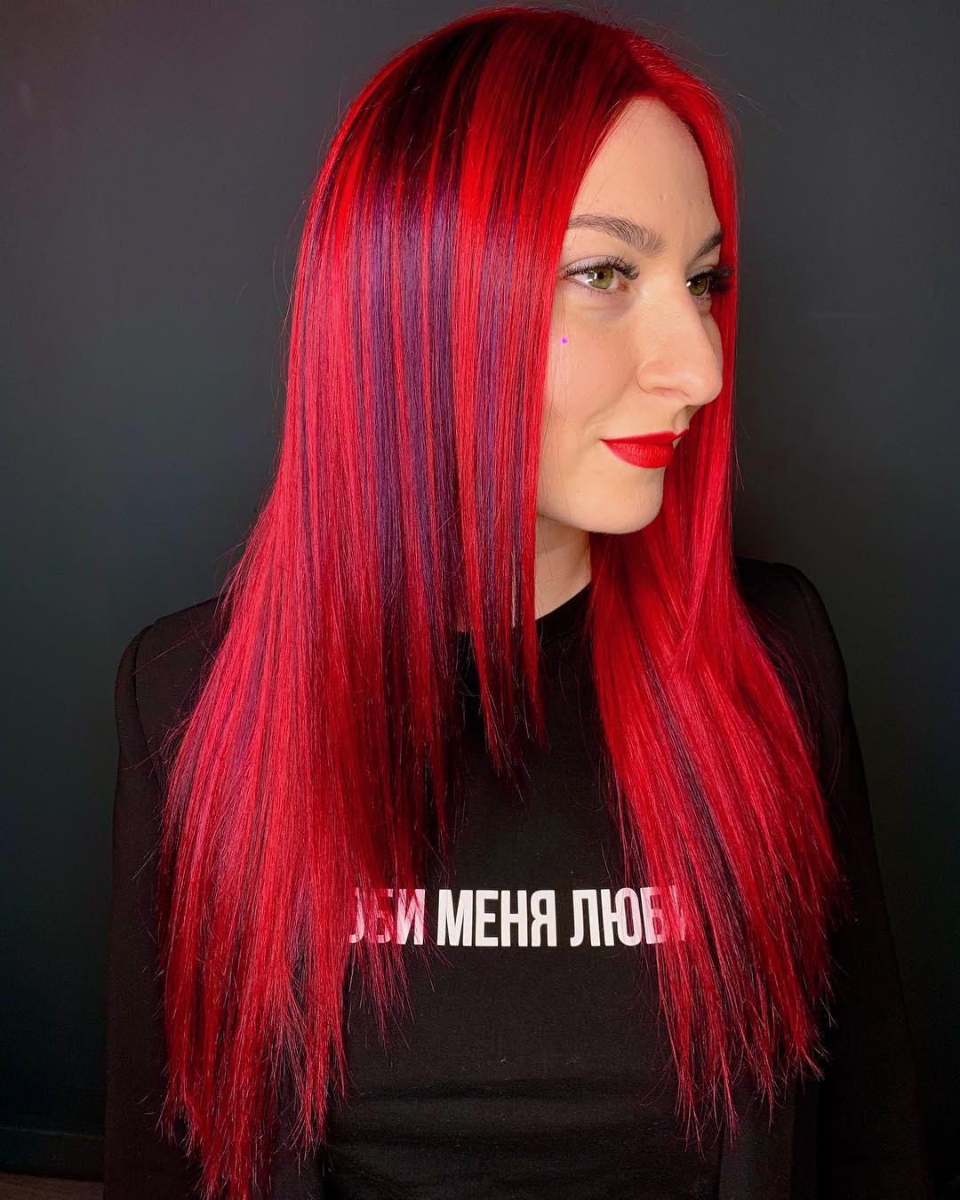 Красные волосы на женщинах 40-50 лет фото 5
