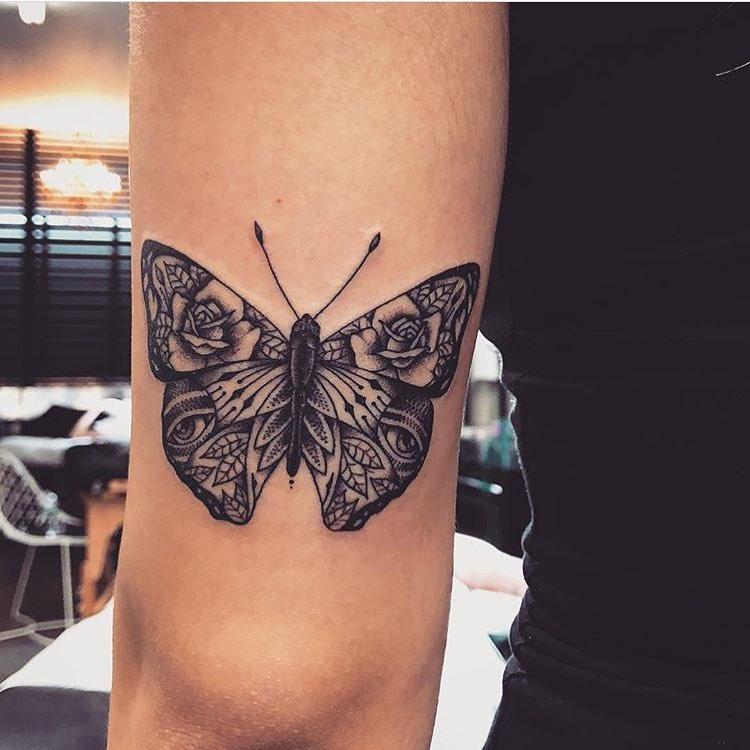 татуировки в виде бабочек фото 2