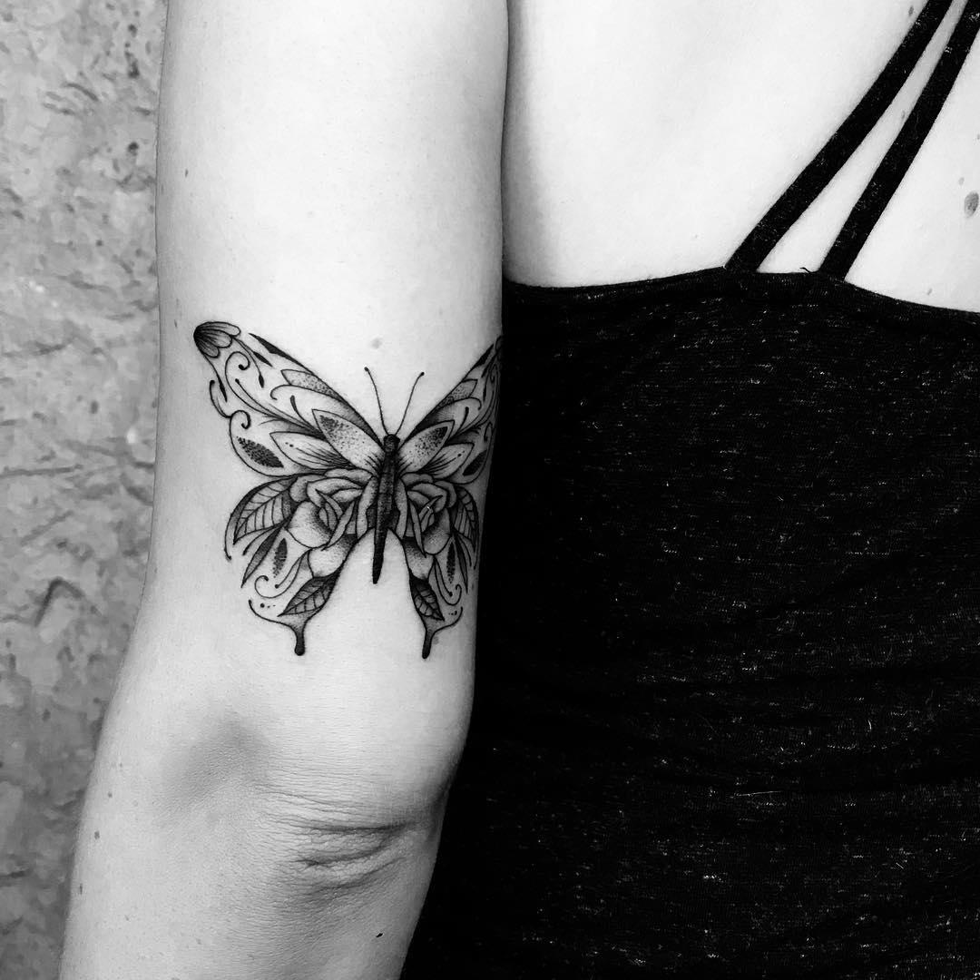 татуировки в виде бабочек фото 4