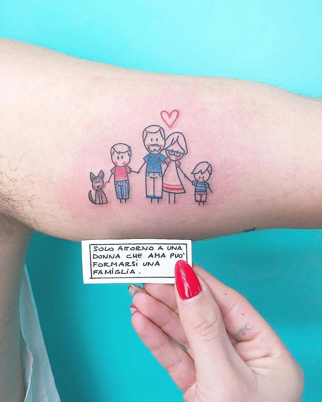 Татуировки в виде матери и ребёнка фото 6