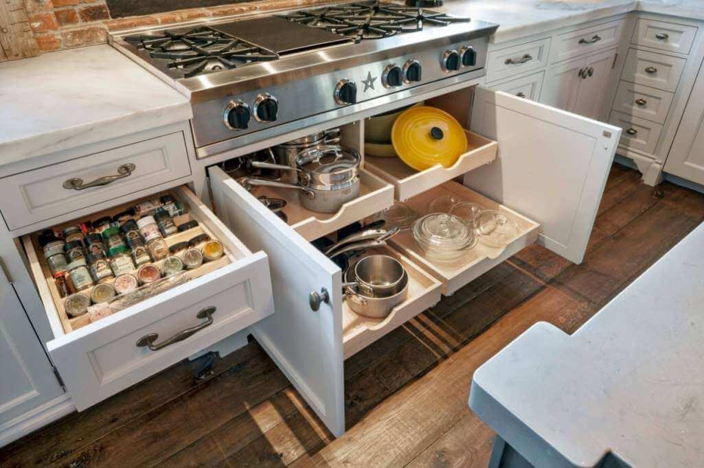 шкафы для хранения кухонной утвари фото 5