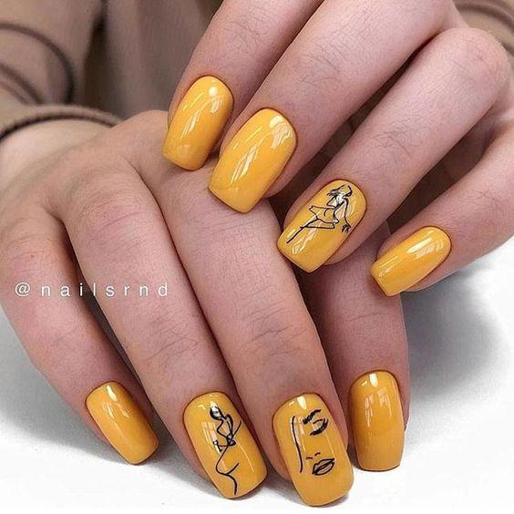 Девушка на ногтях фото 170