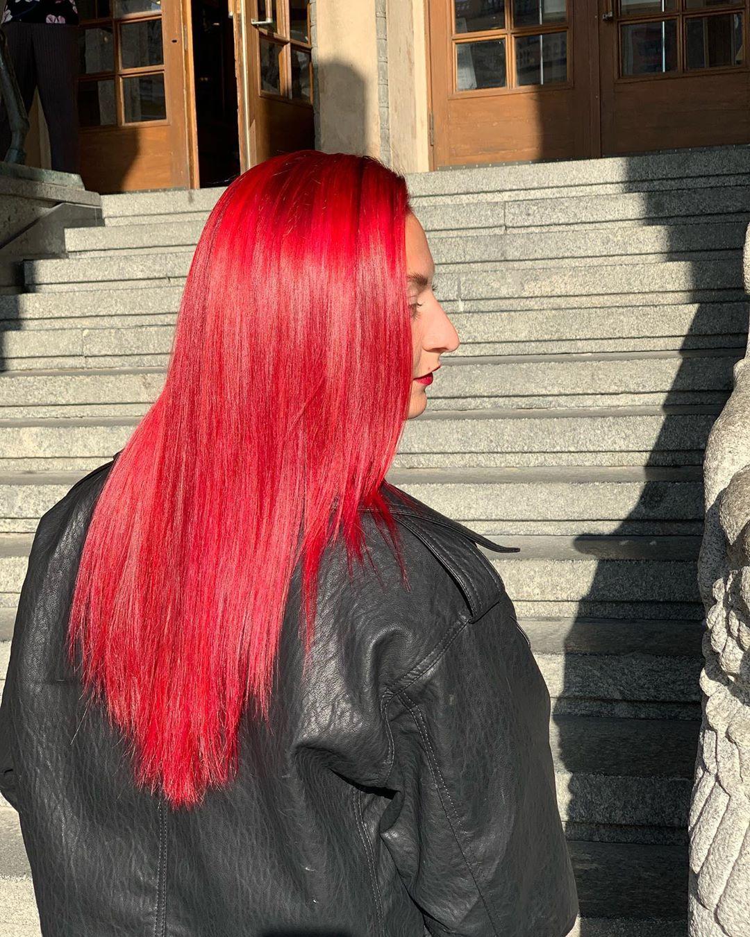 Красные волосы на женщинах 40-50 лет фото 13
