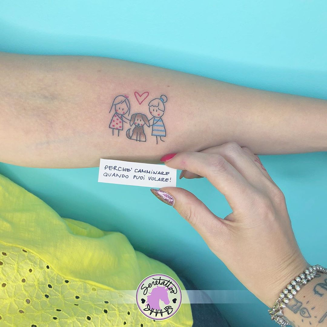 Татуировки в виде матери и ребёнка фото 11