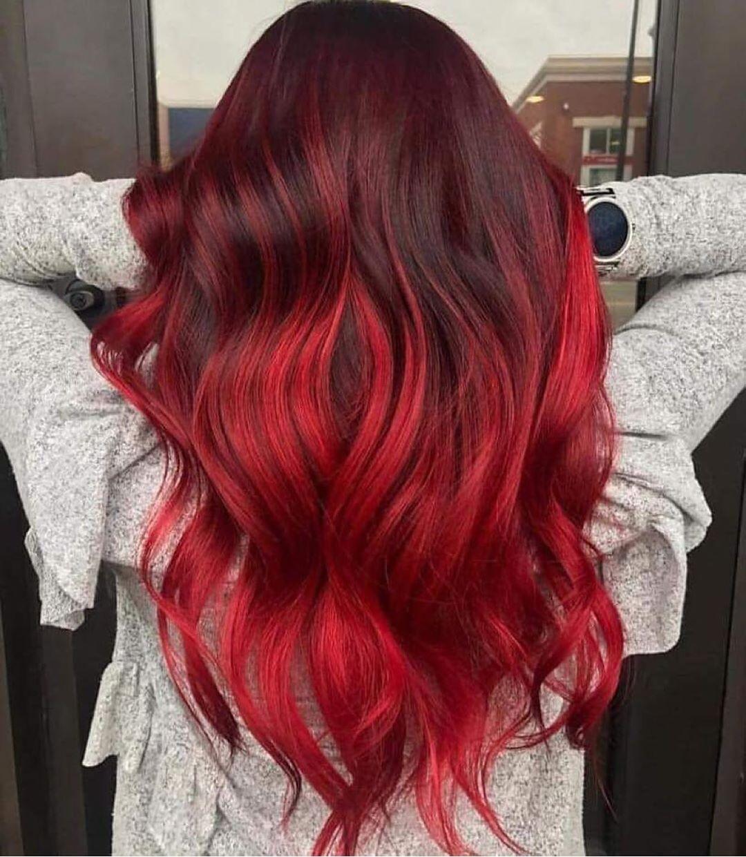 Красные волосы на женщинах 40-50 лет фото 14