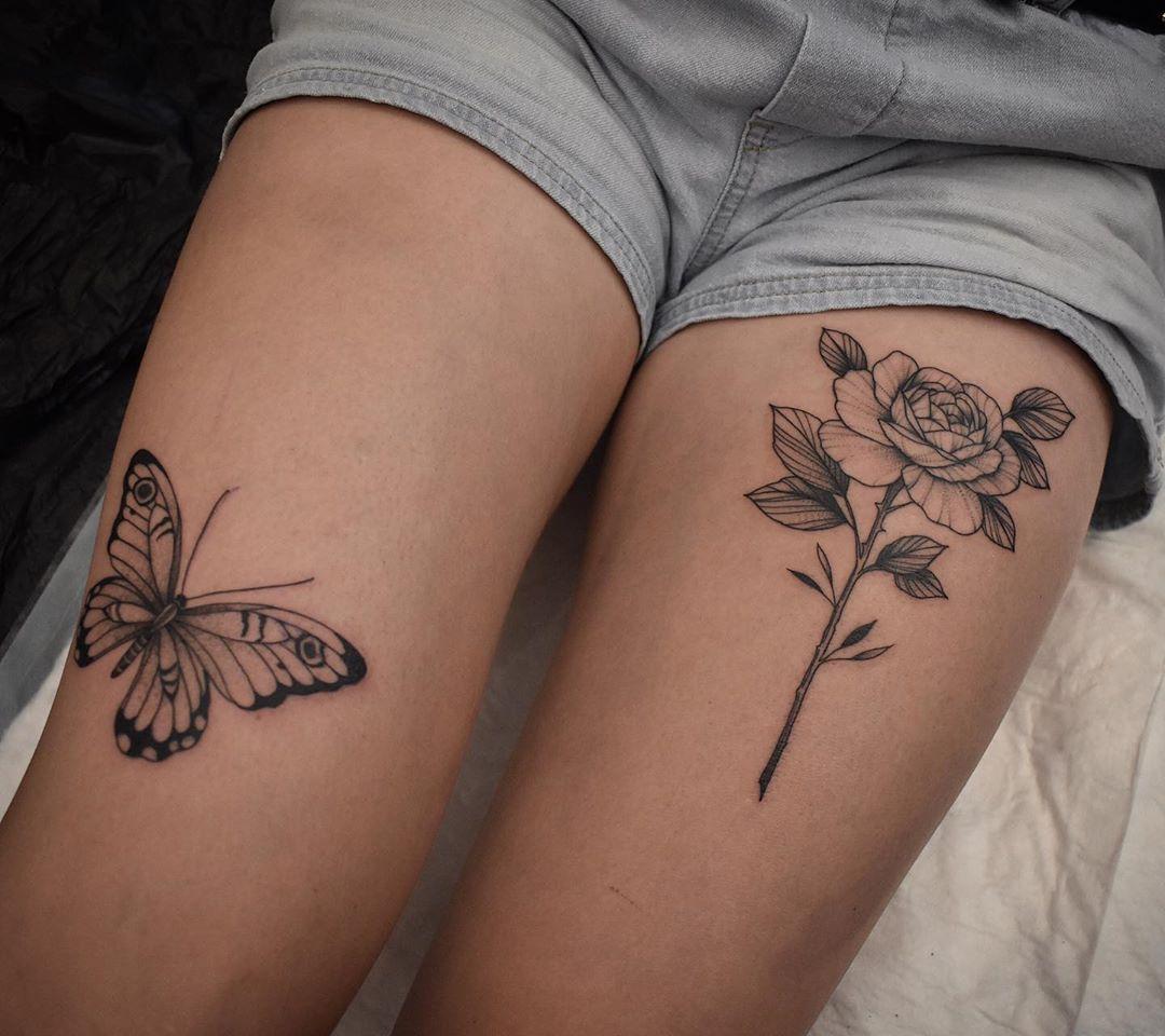 татуировки в виде бабочек фото 18