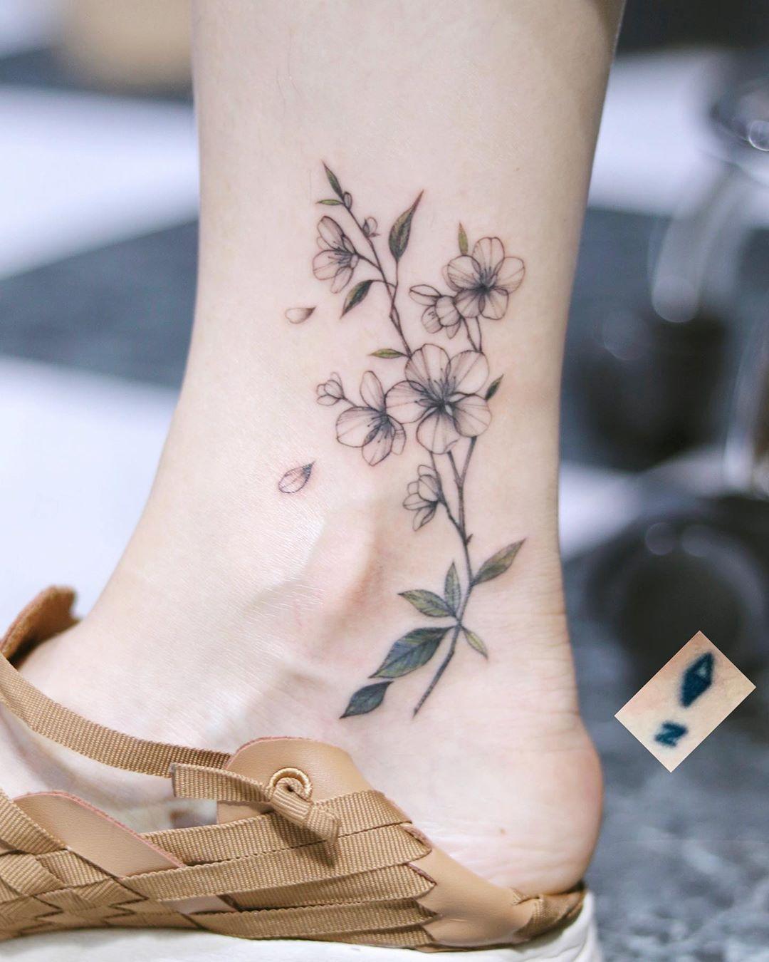 Татуировки на лодыжке фото 9
