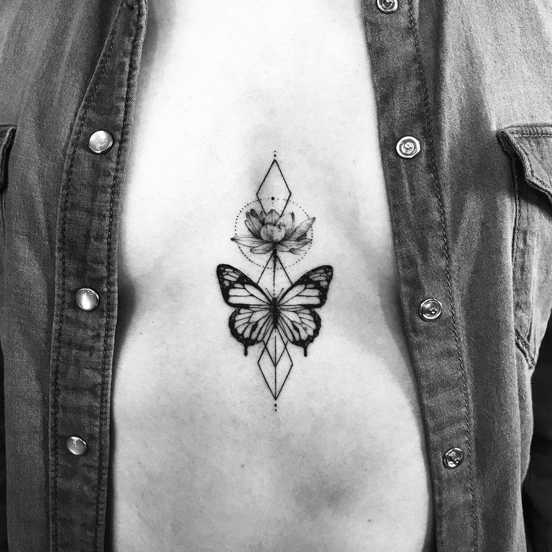 татуировки в виде бабочек фото 5