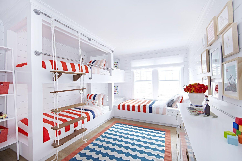 Комнаты для 3-х и более детей фото 17