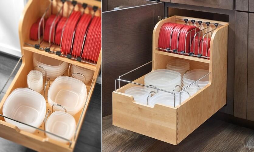 шкафы для хранения кухонной утвари фото 6