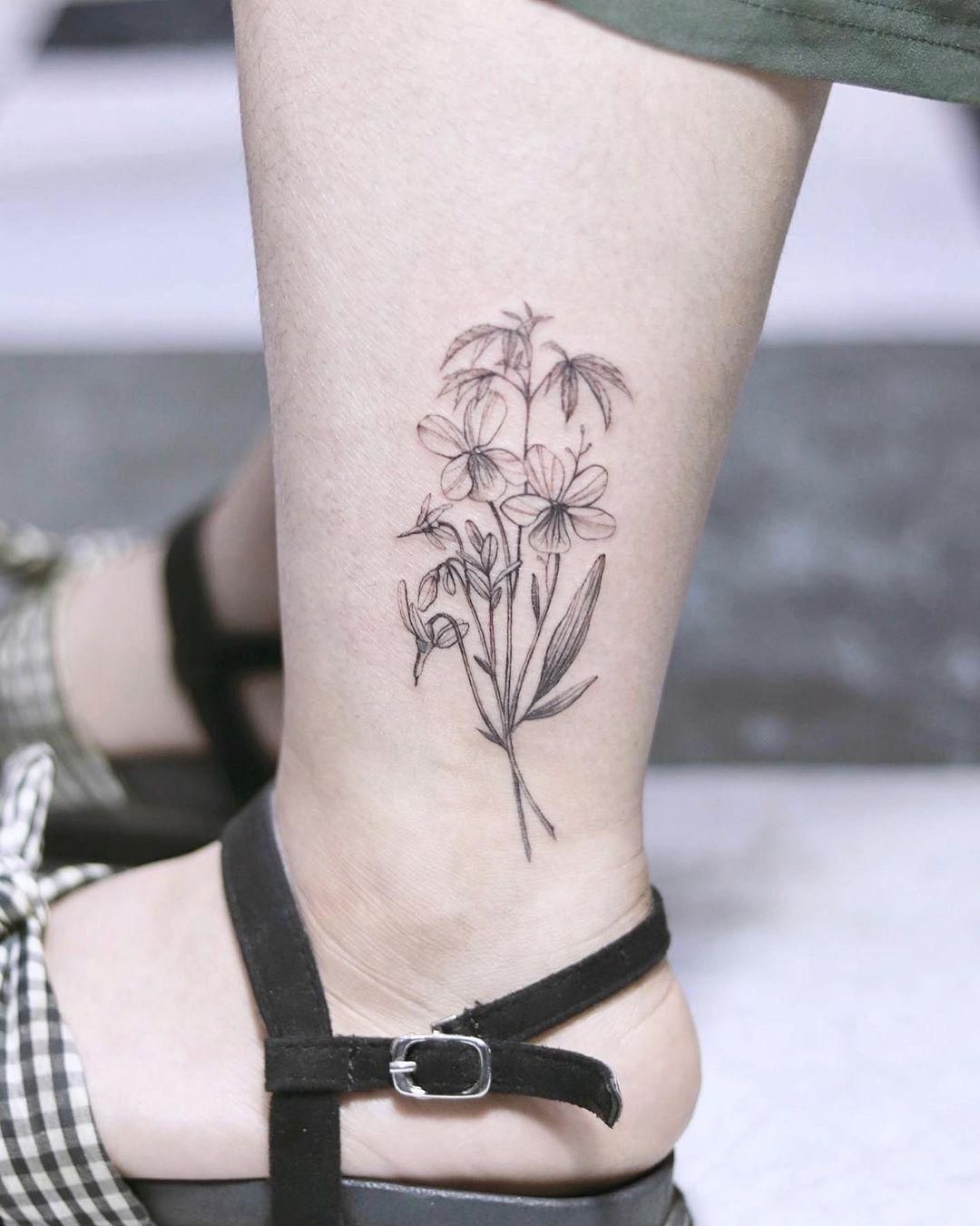 Татуировки на лодыжке фото 11