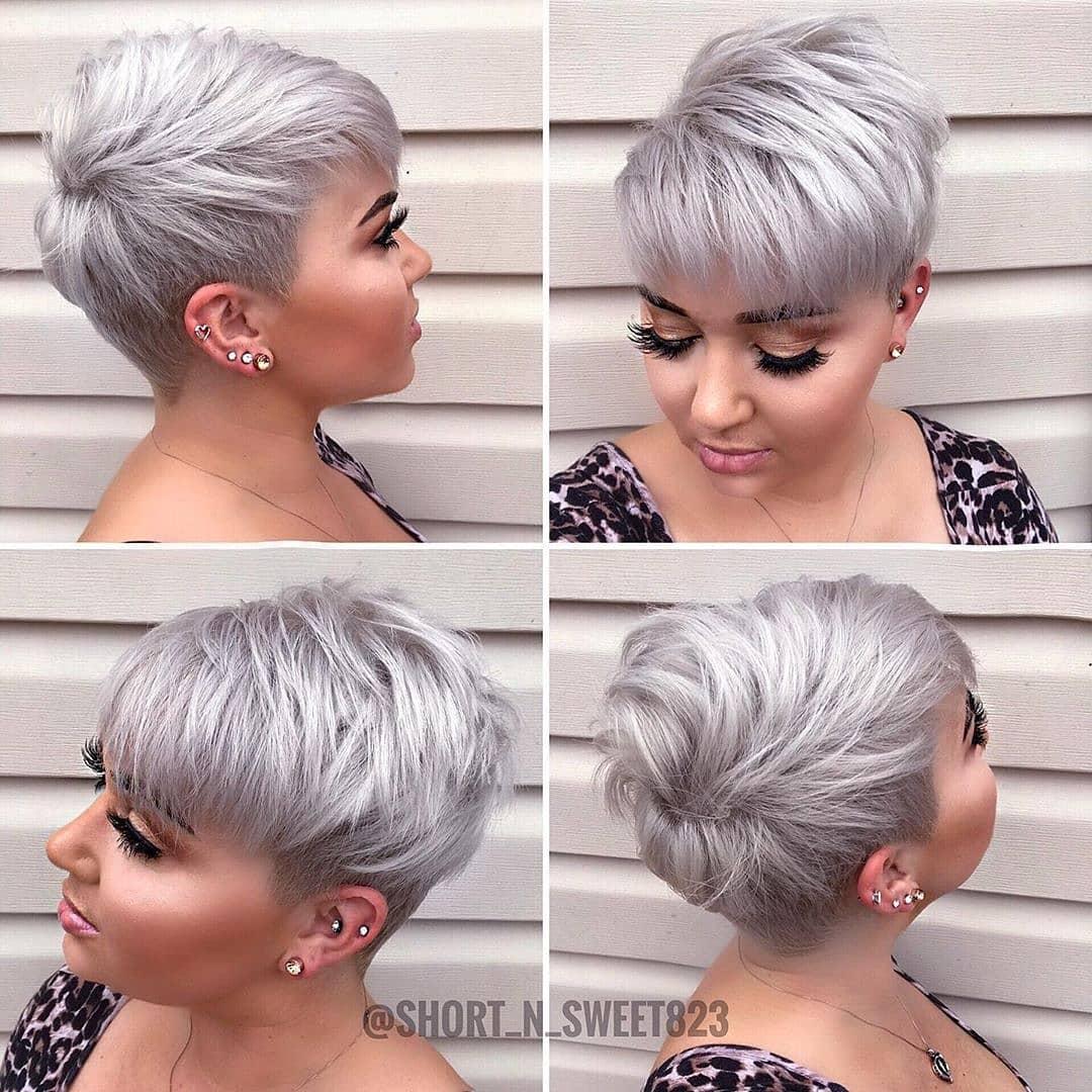 стрижка на короткие волосы для круглого лица фото