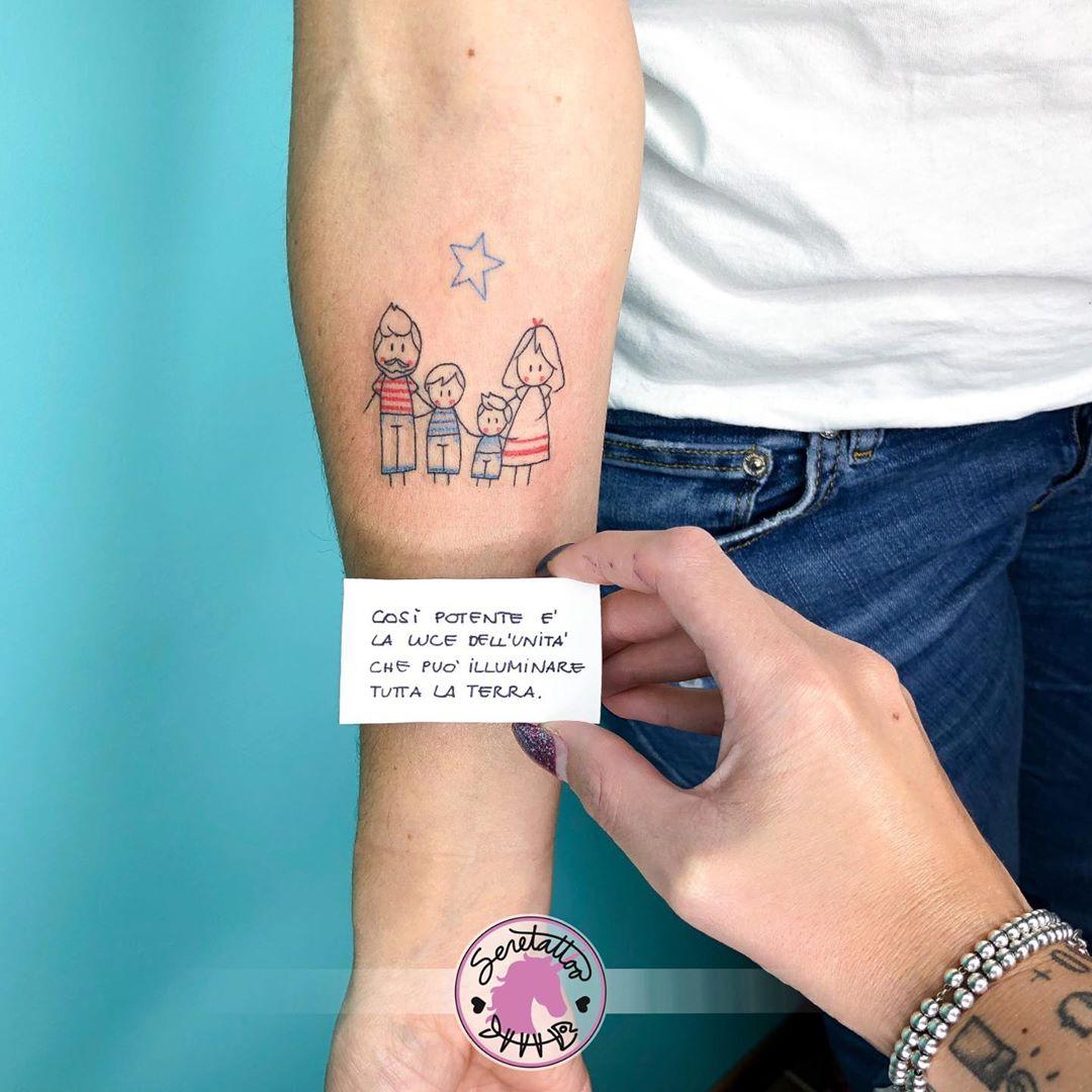 Татуировки в виде матери и ребёнка фото 20