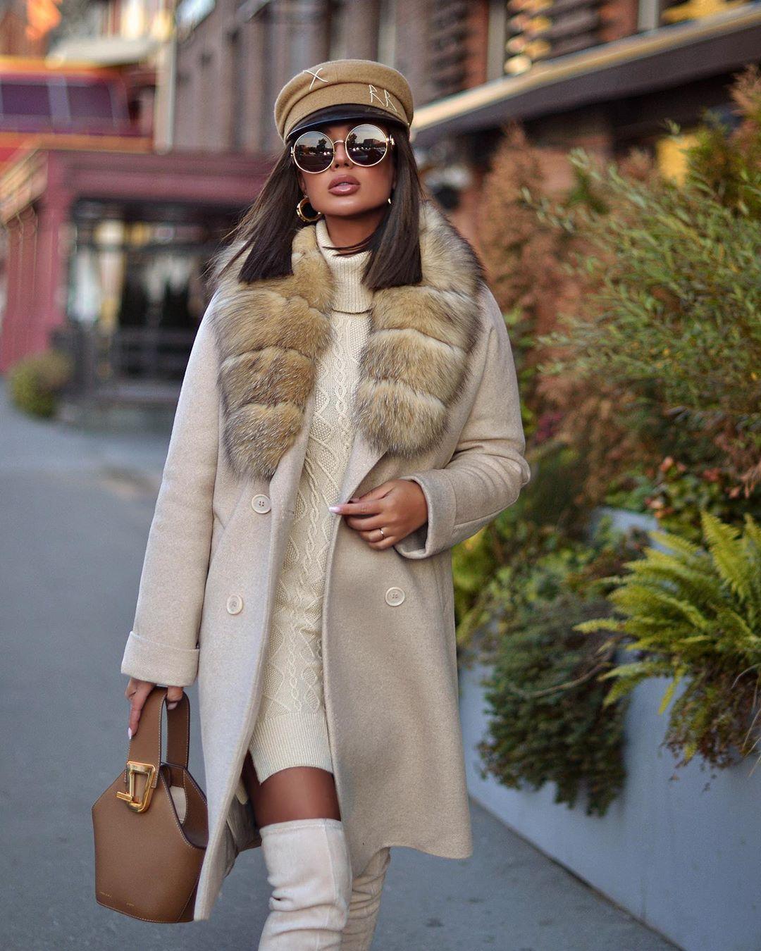Пальто зимнее с мехом 2020 фото 4