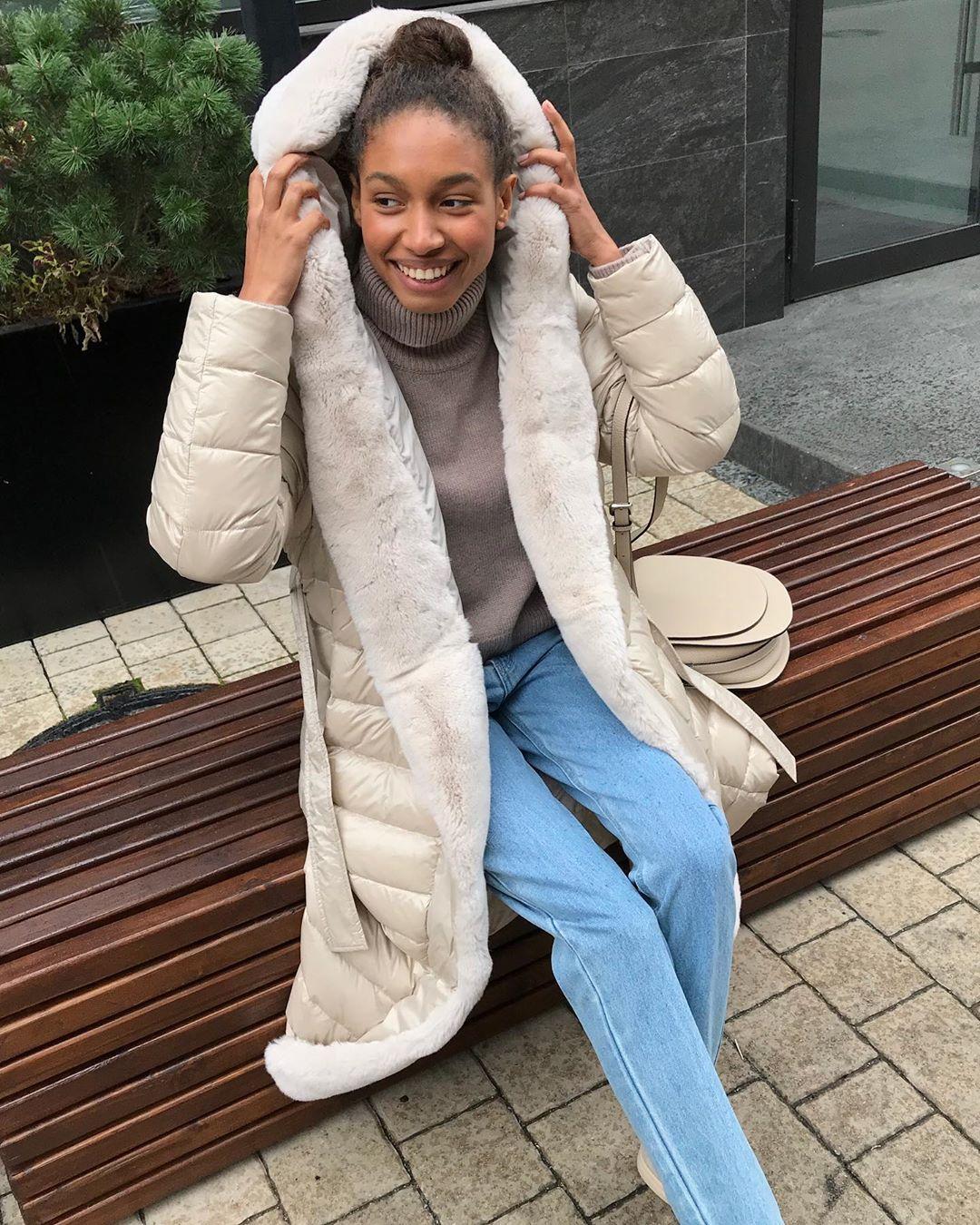 с чем носить зимние куртки с мехом фото 1