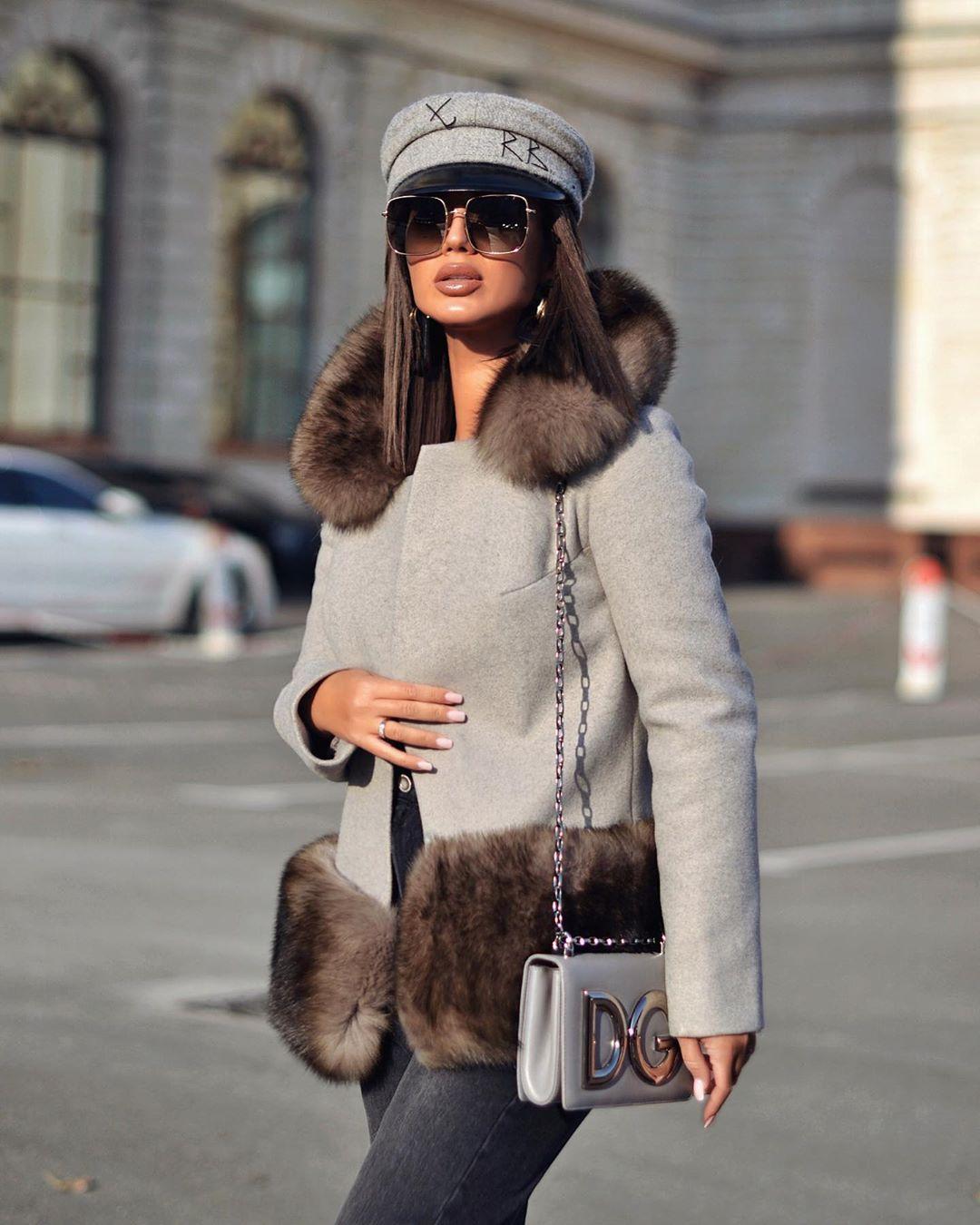 Пальто зимнее с мехом 2020 фото 5