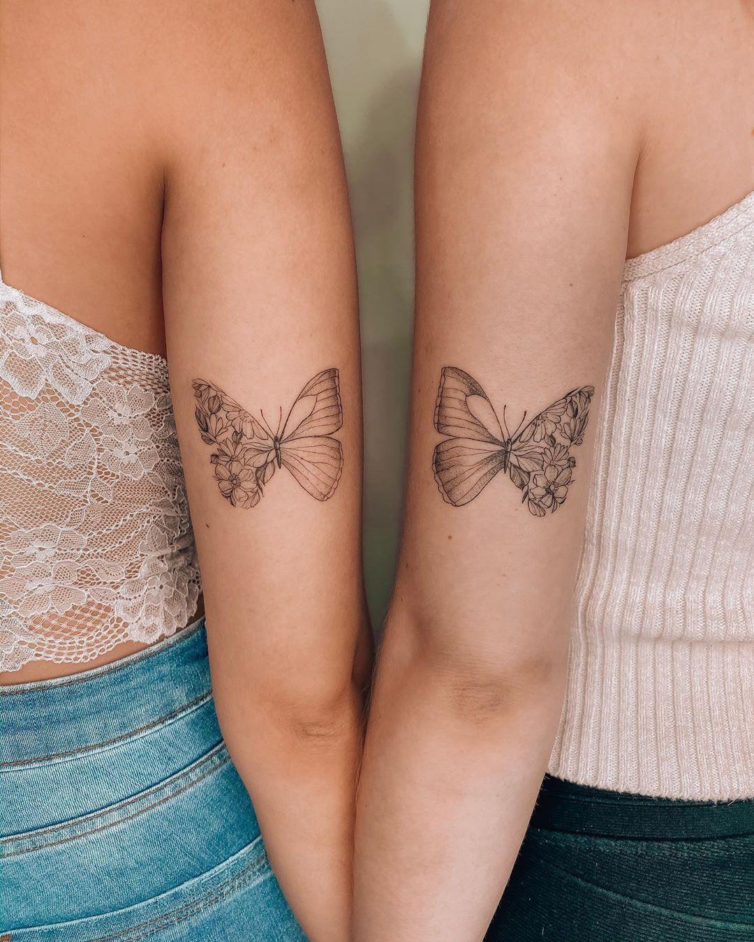 татуировки в виде бабочек фото 10