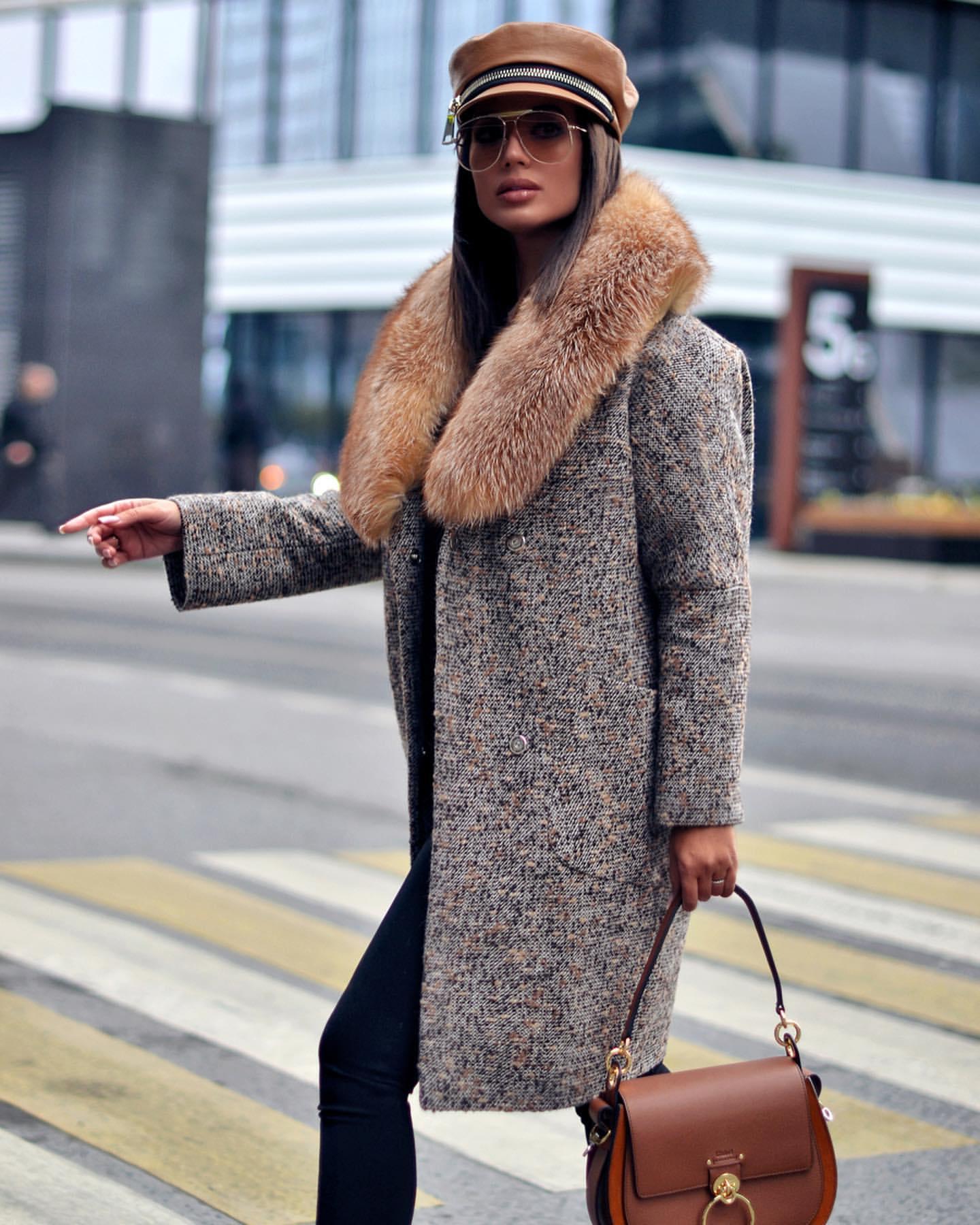 Пальто зимнее с мехом 2020 фото 7