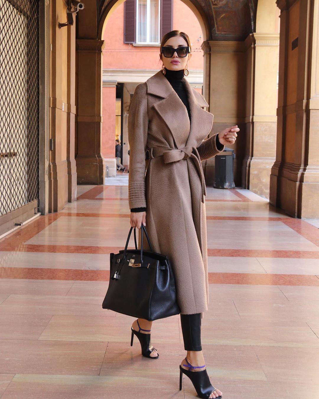 с чем носить пальто женщинам 40-50 лет фото 1