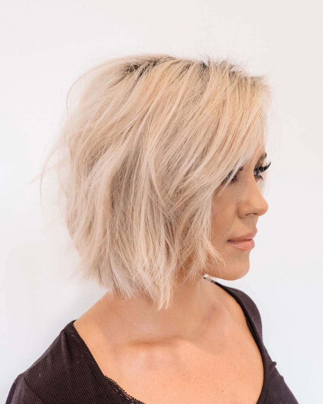 Стрижки на светлые волосы 2020 фото 20