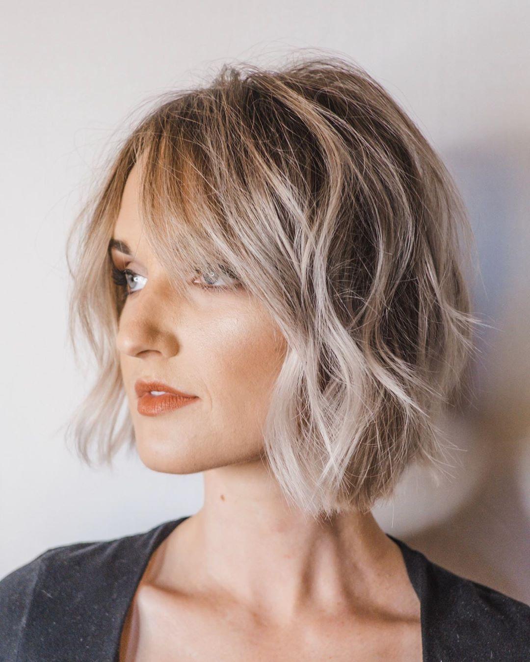 Стрижки на светлые волосы 2020 фото 21