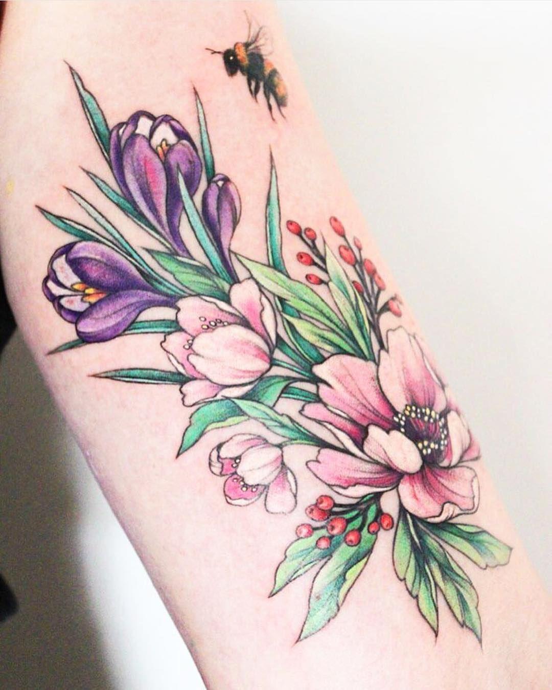 татуировка в виде пиона фото 18