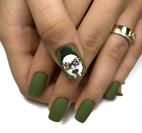 Девушка на ногтях фото 173
