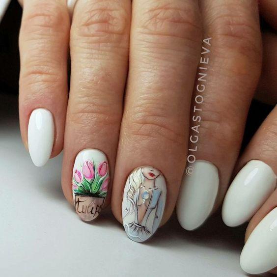 Девушка на ногтях фото 176